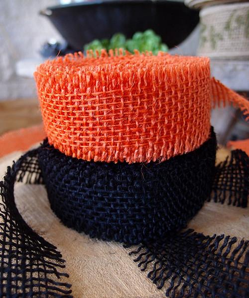 Burlap Ribbon Orange