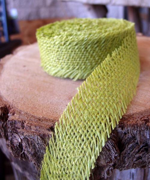 Burlap Ribbon - Lime