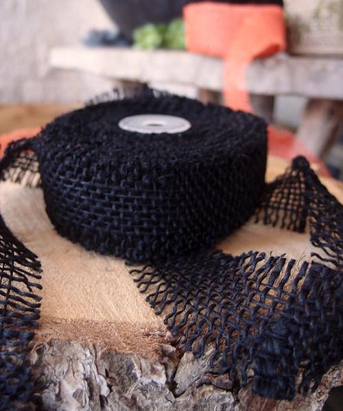 Burlap Ribbon Black