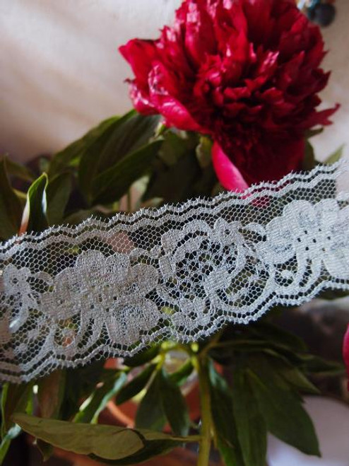 Chantilly Lace Ribbon - Gray (7 sizes)