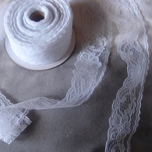 Chantilly Lace Ribbon - White (7 sizes)