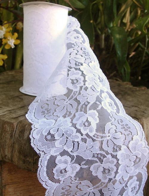 Chantilly Lace Ribbon - White (7 sizes)