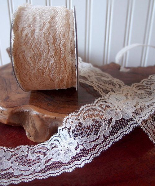 Chantilly Lace Ribbon - Ivory (7 sizes)