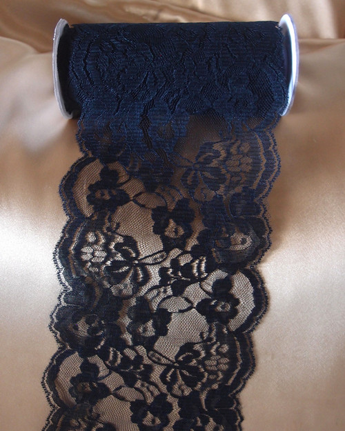 Chantilly Lace Ribbon - Black (6 sizes)