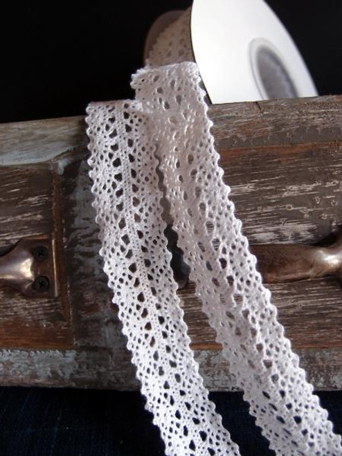 "1"" Cotton Crochet Lace Ribbon-White"