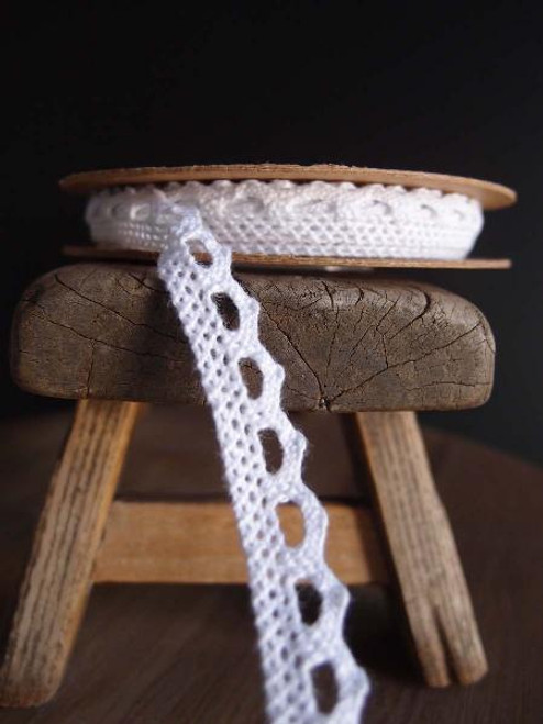 "3/8"" Cotton Crochet Lace Ribbon"