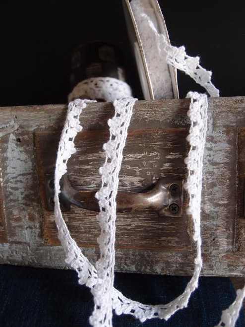 "3/8""Cotton Crochet Lace Ribbon"