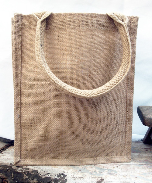Jute Shopping Tote Bag (3 sizes)