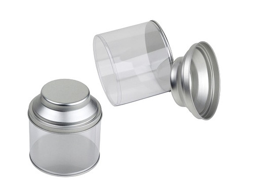 Tea Can with Clear Body