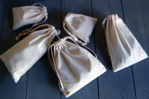 Plain Cotton Bags (11 sizes)