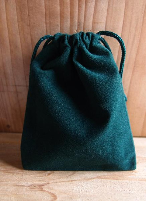 Hunter Green Velvet Bags  (4 sizes)