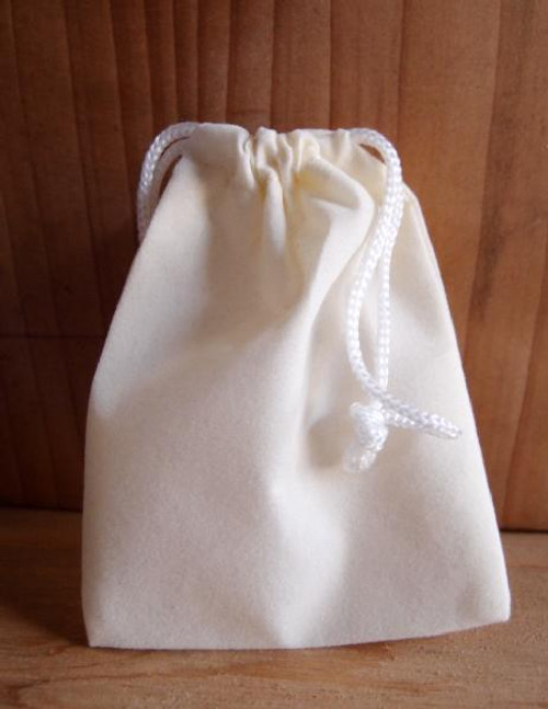 Ivory Velvet Bags, Wholesale Velvet Drawstring Bags | Packaging Decor