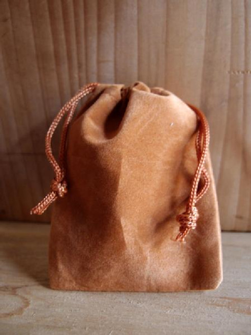 Brown Velvet Bags, Wholesale Velvet Drawstring Bags | Packaging Decor