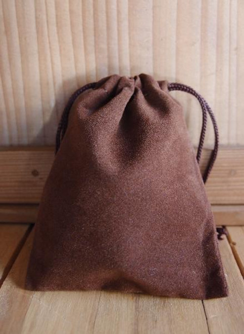Chocolate Brown Velvet Bags (4 sizes)