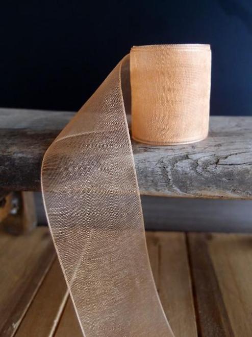 Dijon Sheer Ribbon with Monofilament Edge (3 sizes)