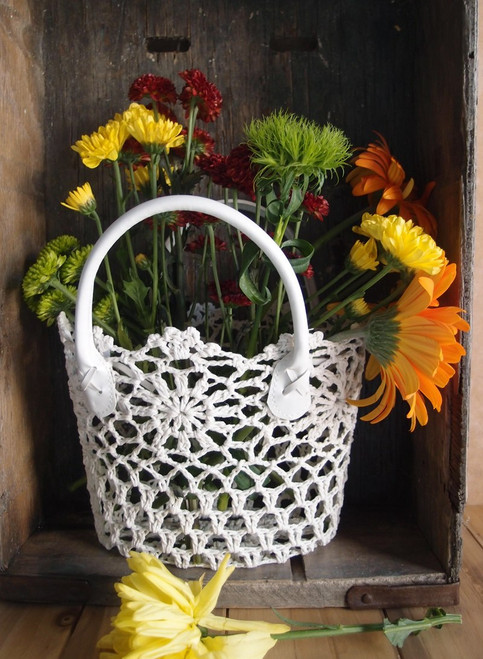 Stiffened White Lace Bag, Wholesale Lace Bags, Wholesale Floral Baskets |
