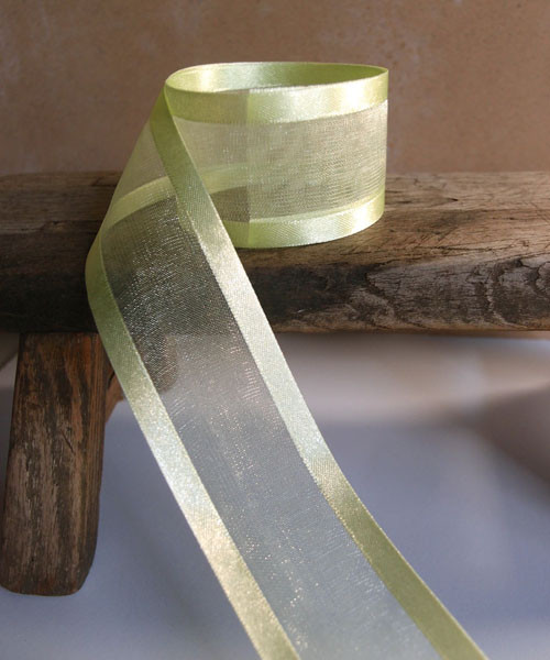 Mint Sheer Ribbon with Satin Edge (4 sizes)