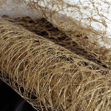 4-Inch 10-Yard Rustic Faux Sisal Web Ribbon