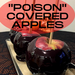 """Halloween """"Poison"""" Covered Apples"""