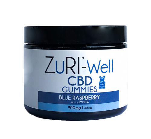 zuri cbd gummies blue rasberry 900 mg 30 mg chew chewies