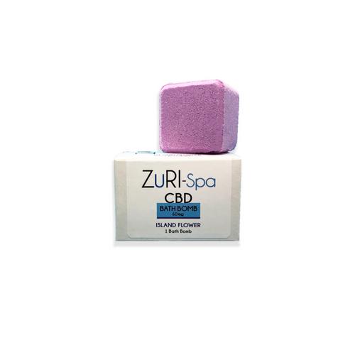 zuri cbd bath bomb lush eucalyptus lavender 60 mg