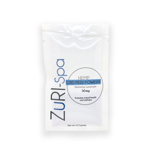 zuri cbd pedi pedicure powder 50 mg
