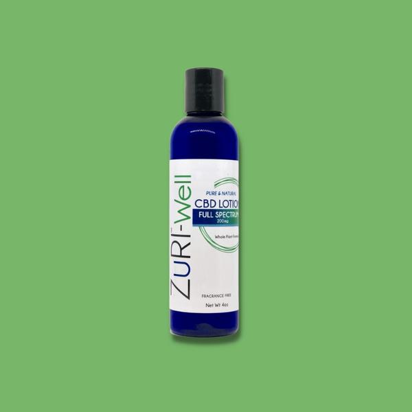 zuri cbd oil hemp lotion full spectrum well fragrance free