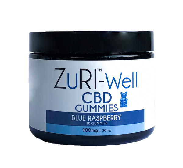 zuri cbd gummies blue rasberry 900 mg 30 mg chew chewies