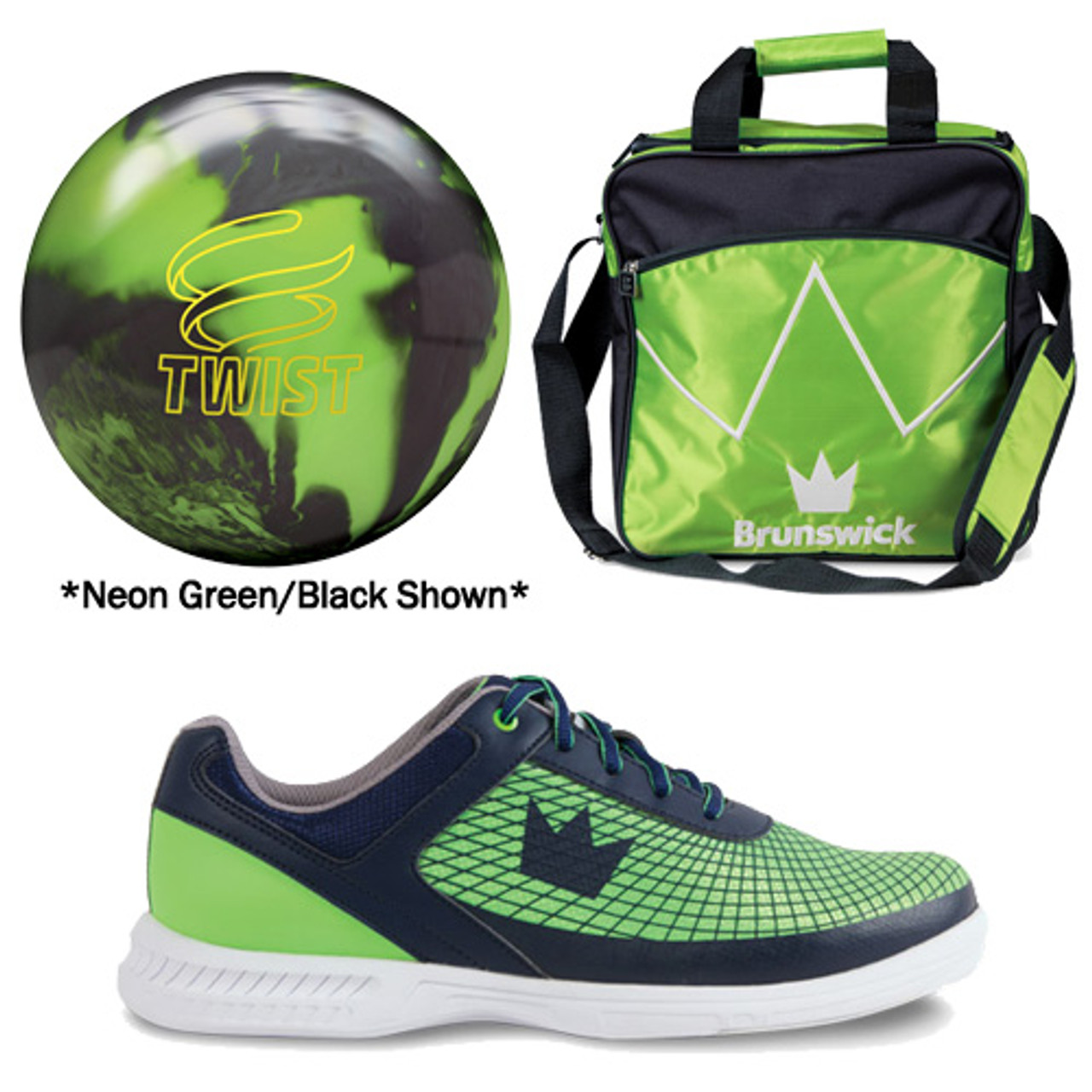 Bowling Ball DV8 Slime Green Bowling Ball and Bag for Bowling Shoes