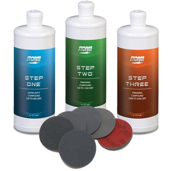 Storm Pro Finishing Steps 1-2-3 with Complete Set of Abralon Pads