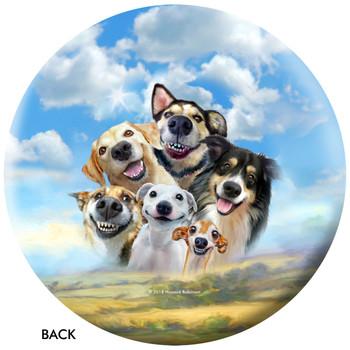 OTBB Dogs Selfie Bowling Ball