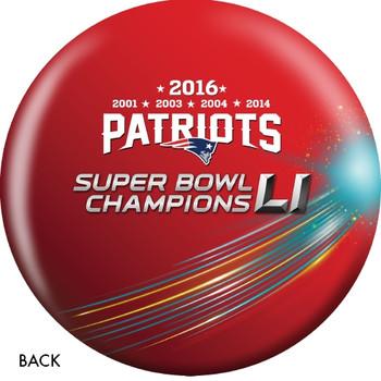 OTTB New England Patriots Bowling Ball Super Bowl 51 Champions