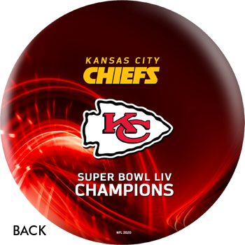 OTTB Kansas City Chiefs Bowling Ball Super Bowl 54 Champions - Red