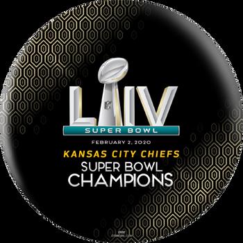 OTTB Kansas City Chiefs Bowling Ball Super Bowl 54 Champions - Black