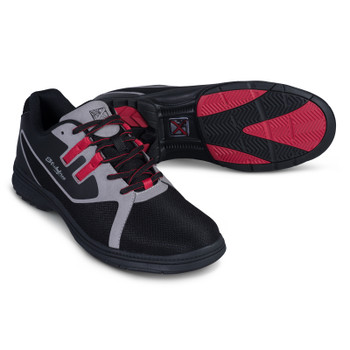 KR Strikeforce Mens Ignite Bowling Shoes Black/Grey/Red - Right Handed