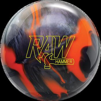 Hammer Raw Bowling Ball - Orange/Black Hybrid