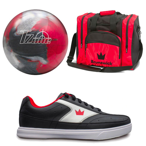Brunswick Mens Target Zone Bowling Ball, Bag and Shoes Package