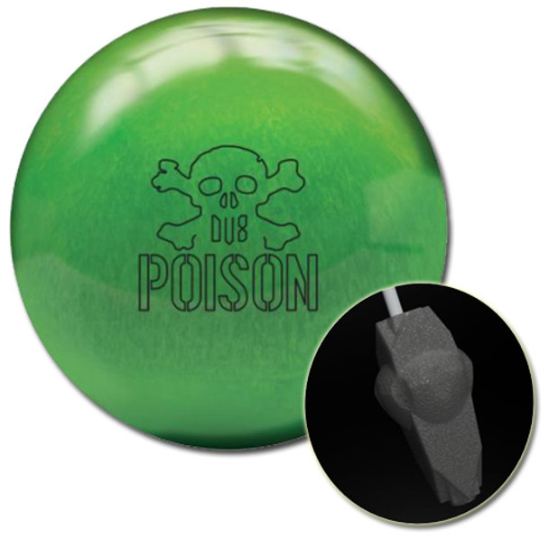DV8 Poison Pearl Bowling Ball and core