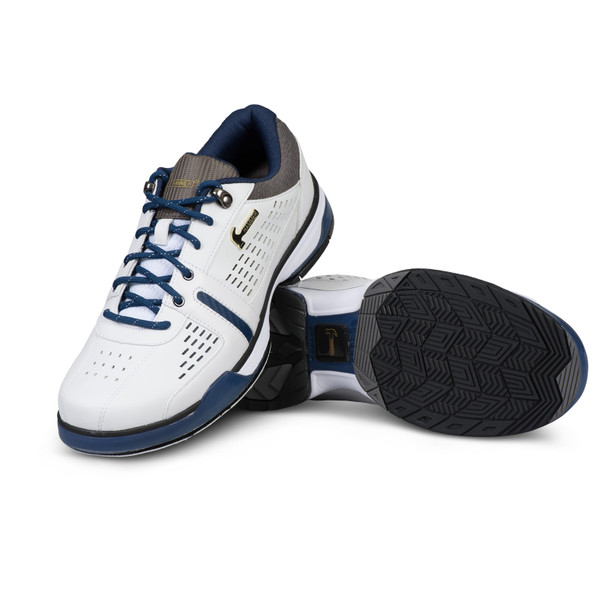 Hammer Boss Mens Bowling Shoes White/Navy/Grey Wide setup