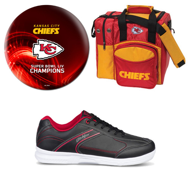 Super Bowl 54 Kansas City Chiefs Ball (Red), Bag and Shoes Mens Package