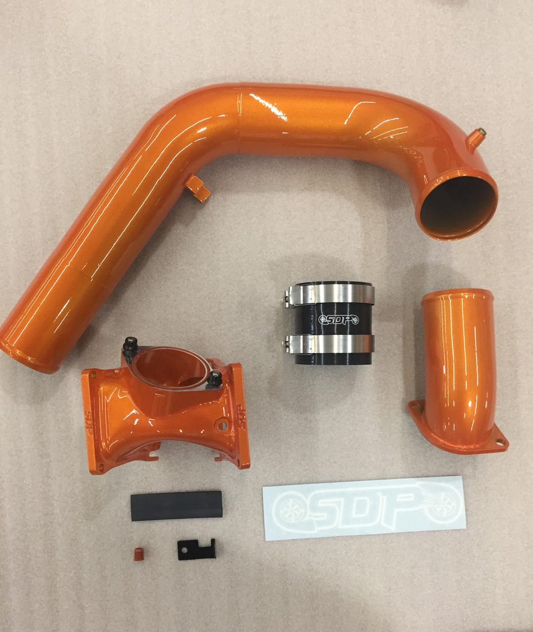 "LMM Duramax Billet 3"" 3in Y-bridge kit Illusion Orange SDP"