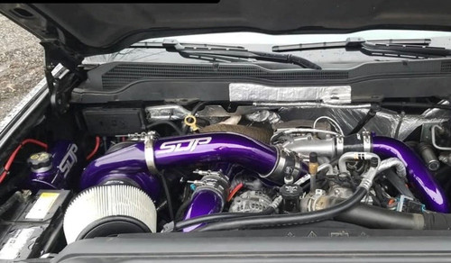 SDP twin turbo kit Duramax LML Illusion Purple compound