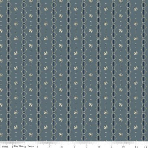 Americana - Floral Stripe Blue