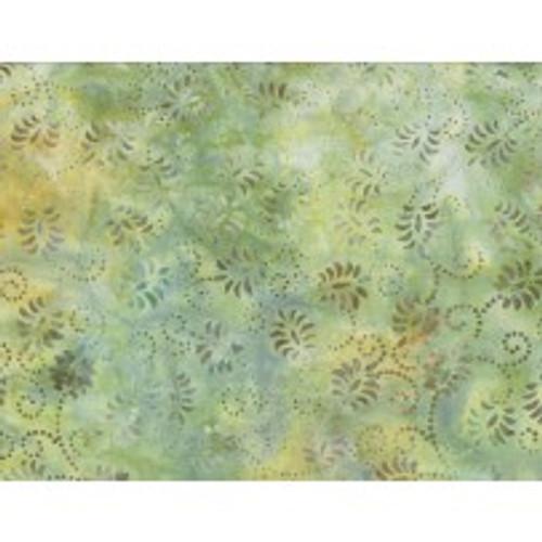 Wilmington Batik - Dancing Leaves Light Green