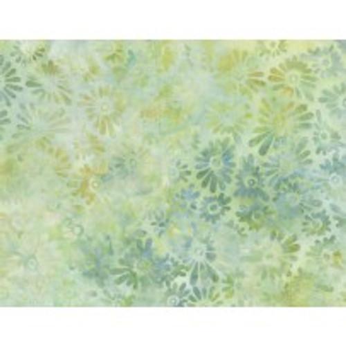 Wilmington Batik - Flower Field Light Greens