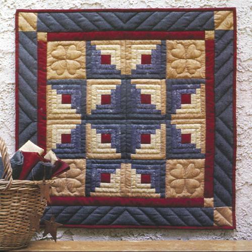 Log Cabin Star - Wallhanging Quilt Kit