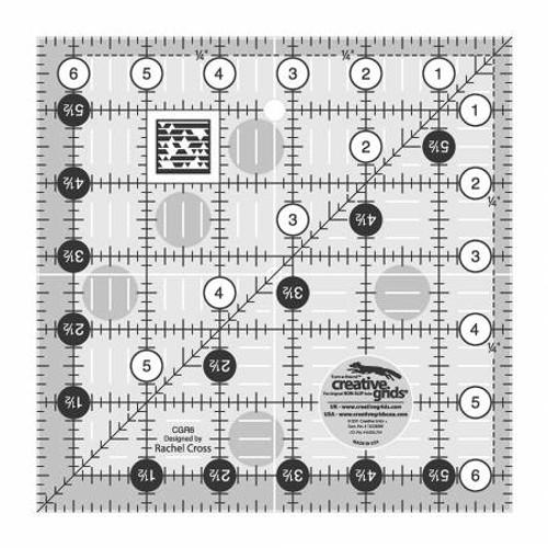 @ Ruler Creative Grids 6.5X6.5 Wh/B
