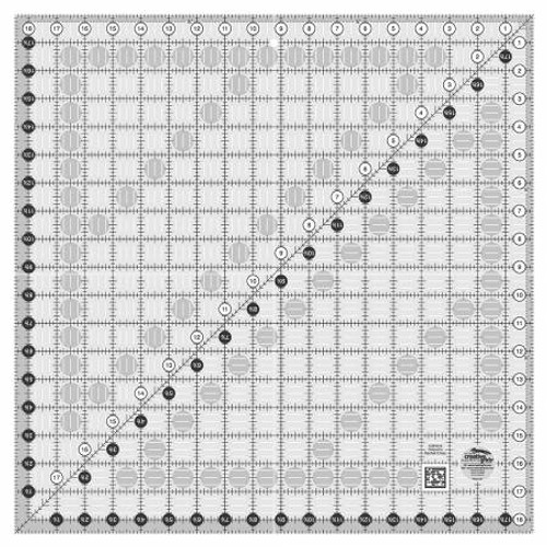 """Creative Grids Quilting Ruler 18 1/2"""" Sq"""
