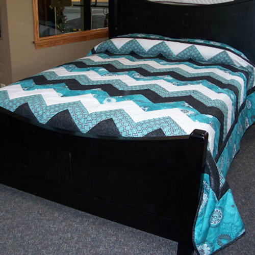 """Chevron Quilt 94"""" by 104"""""""