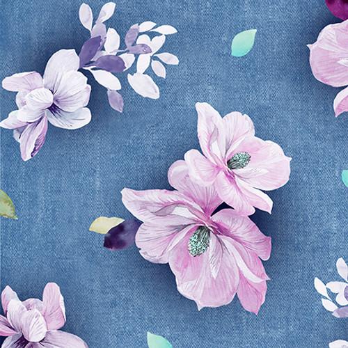 Jacqueline - Tossed Floral Blue